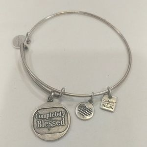 Alex And  Ani Silver Completely Blessed Bracelet